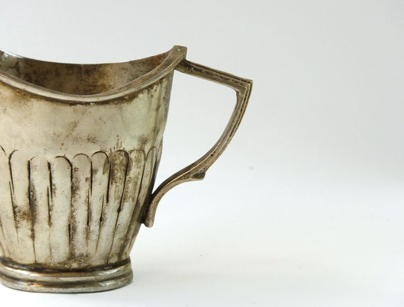 Hammered Cup or Creamer, German Silver