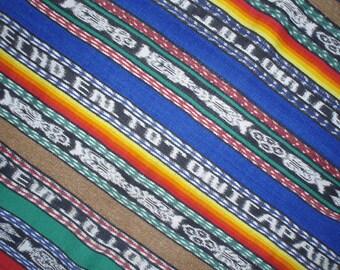 Maya Rebozo Textile Tontonicapan Guatemala Vintage Weaving