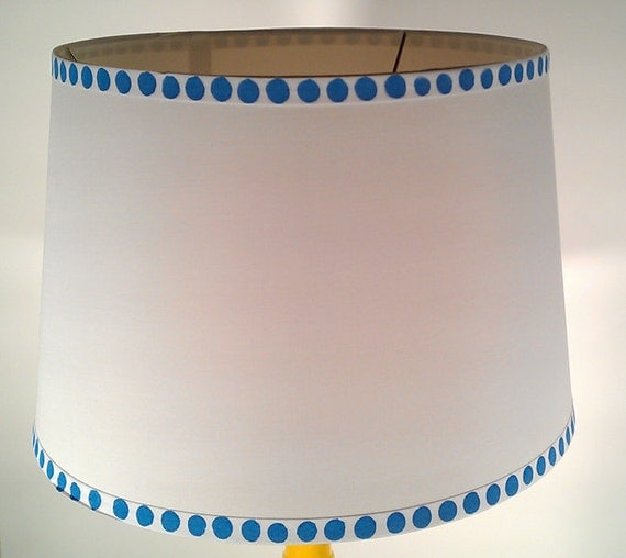 Hand Painted Dotted Lamp Shade