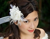 SALE Ivory Bridal Hair Flower Wedding Fascinator Hair Clip Bridal Hair Accessories - Ready to Ship - FRANCA
