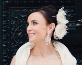 Ivory Bridal Hair Flowers Fascinator Wedding Hair Accessories - Made to Order - SILVIA