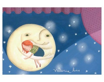 Illustrated postcard for children - Lullaby