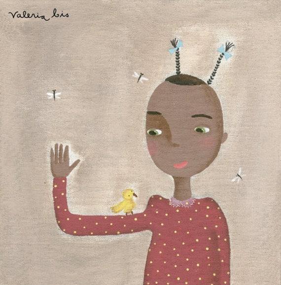 "Children illustration print art - ""Dialogue - """