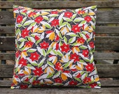 SALE - Pillow Cover, Bold Floral Graphic