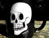 grinning skull sublimation printed mug