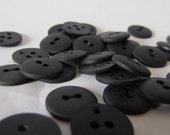 Vintage Black Buttons, Supply set of 33