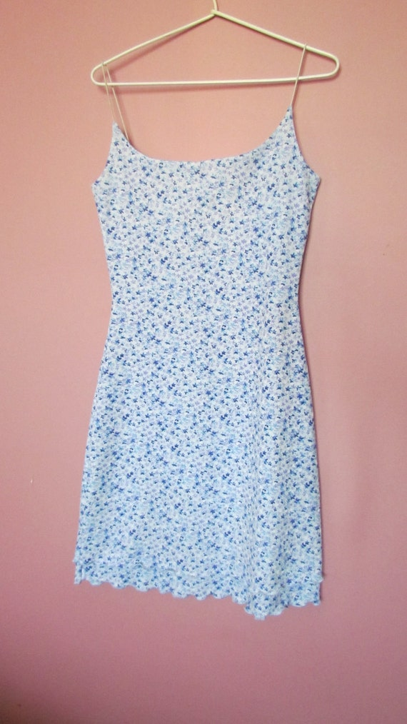 Vintage 1990s Floral Mini Dress - Size Small