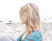Starfish Headband On Teal Turquoise Sequin Headband Mermaid Hair