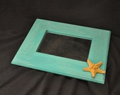 Starfish Mirror Turquoise Aqua Color Shabby Chic Beachy Gorgeous