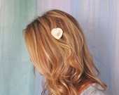 Heart Seashell Hair Clip Barrette, Absolutely perfect for a wedding
