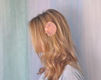 Scallop Sea Shell Hair Clip Mermaid Hair by Shepherdofthesea