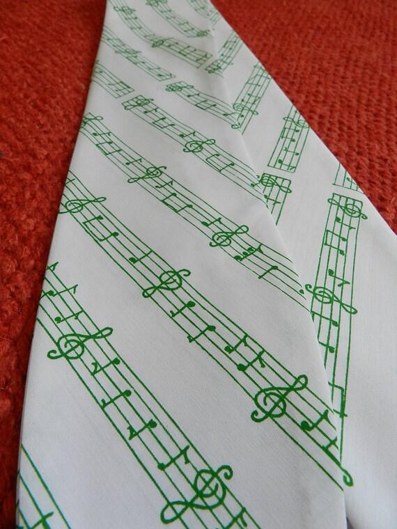 Retro White and Green Pencil Scarf Skinny Scarflette Headband great for school marching band baton twirlers choir