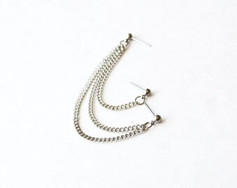 Silver Multi-Pierce Cartilage Earring (Single-Side)