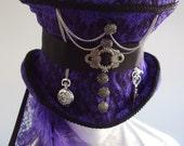 Steampunk riding hat purple Ameth