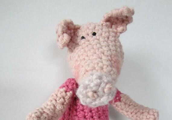 Peppermint Pig - a hand crocheted pig