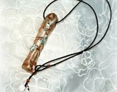 Bone and Gemstone Necklace Primitive Hawaiian
