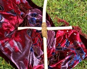 Hawaiian Guava Wood and Leather Cross Gothic Hand Made