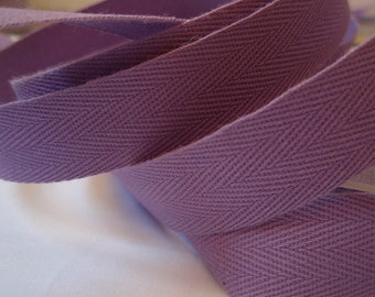 Twill Tape Lilac Cotton 10 Yards  5/8""