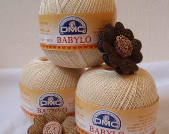 DMC BABYLO Crochet Cotton Thread #20 Ivory 400 gr.