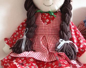 Pattern Rag Doll Cloth Doll PDF DIY Free Shipping