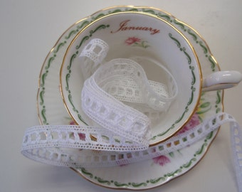"""Lace White Cotton Tape Loop 1/2""""width 5Yards"""