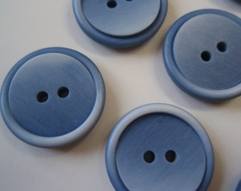Buttons Brushed Blue 6 pcs