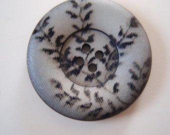Buttons Gray Branch Decorated 8pcs