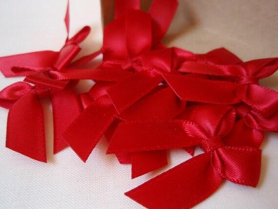 Satin Bow Red 10 pcs