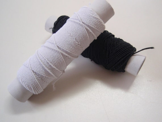 Elastic Cord White or Black Set of 5