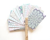 Mini Envelope & Gift Tag 45pc Set - Mint, Cream, Navy and  Vintage Paper Set