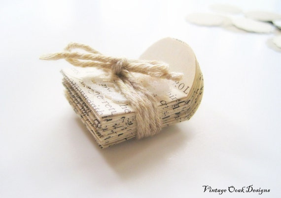 "Mini Vintage Envelopes & Scalloped Sphere Gift Tags 50pc set, Teeny and Tiny 1"" Mini Vintage Envelopes"