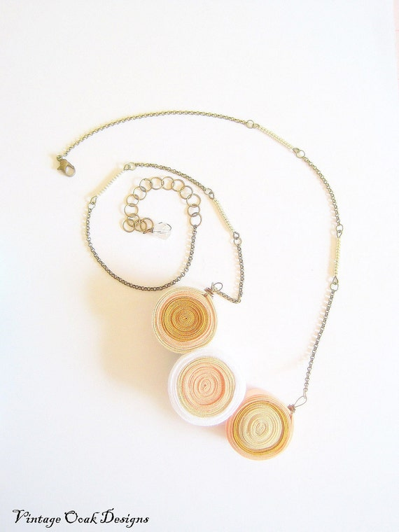 Geometric Spheres Sand Dune Layers Necklace -- Listen to the Waves & Discover Secrets of the Earth