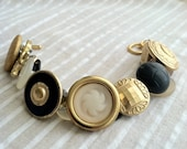 Royal Blues Vintage Button Bracelet