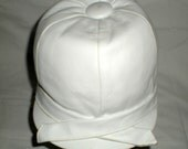 Horse Riding White Leather Jockey Cap Hat