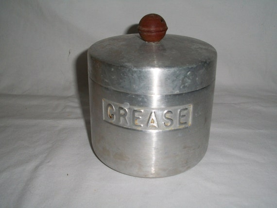 1950s Vintage Grease Container With A Strainer And By