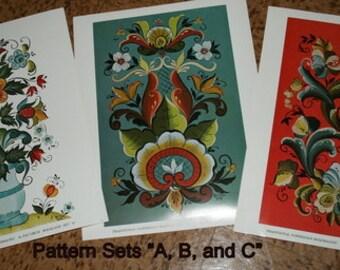 Rosemaling Pattern Sets