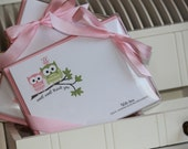 Stationery Set, Modern Notecards, Owl Stationery, Childrens Cards, Thank You Cards, Baby, Stationary Note Set