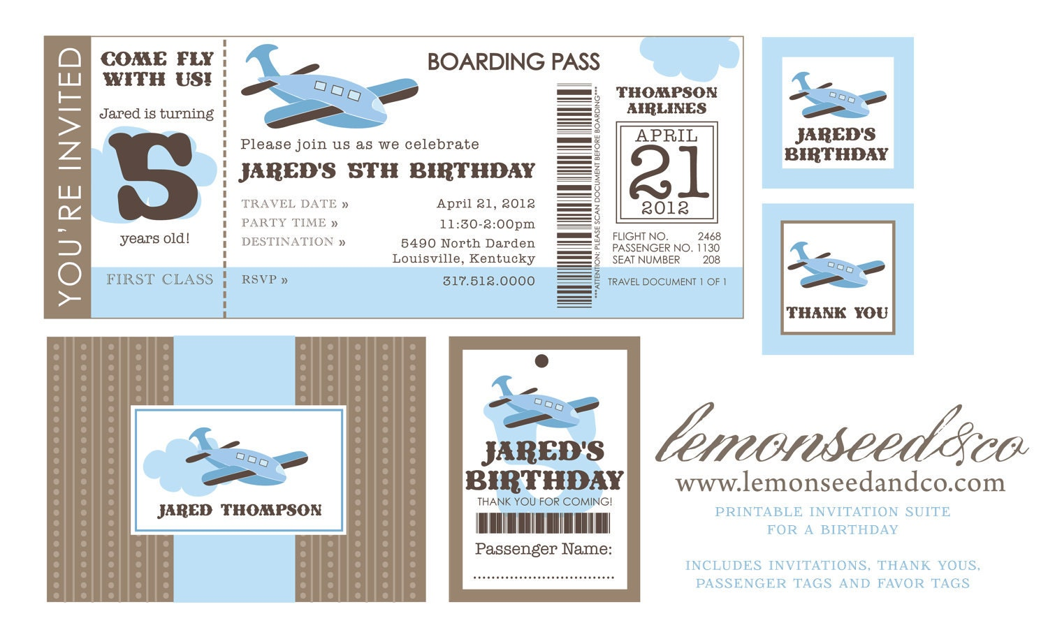 Airline Ticket Invitation Template – Plane Ticket Template