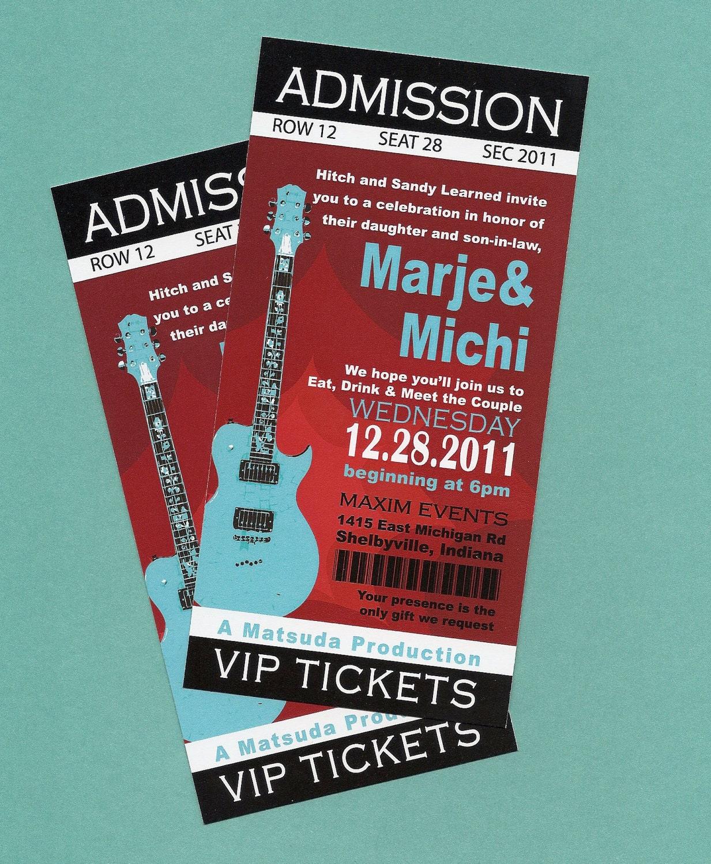 Printable DIY Concert Rock n' Roll Birthday Concert