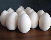 Unfinished Wooden Eggs Set of 12