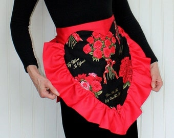 Vintage Heart Apron, Romancing the Rose