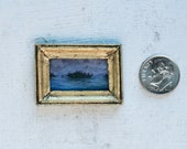 "Miniature Painting ""Horizontal Island Sunset"""