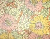 Vintage 60s Linen Tablecloth Flower Power ReTrO style