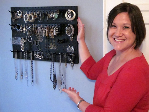 Wall Hanging Jewelry Hanger - Black