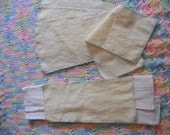 "Washable Flannel DIAPER LINERS 12/pack. 5""x11"" CREAM"