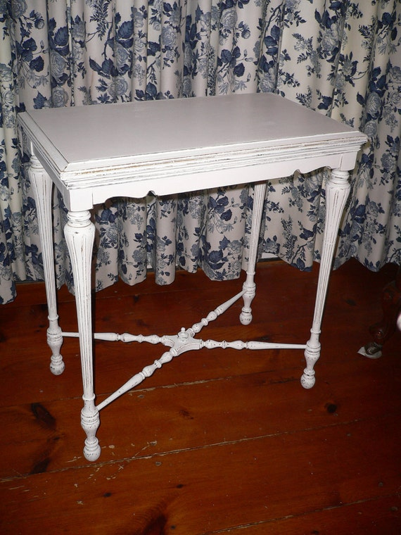 Chic and Shabby Accent Table or Hall Table