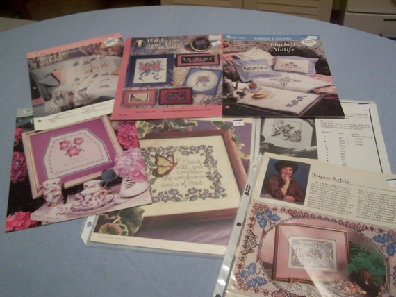 Floral Patterns for Counted Cross Stitch Lot of 7