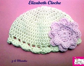 Elizabeth Baby Cloche-Newborn to 12 Months-Custom Made to Order