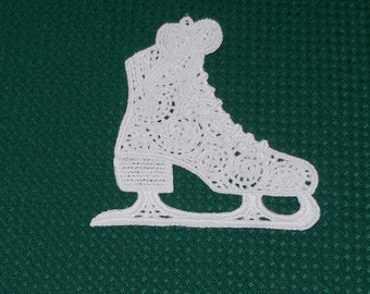 Lace Applique for Crafts or Crazy Quilt - Victorian Iceskate