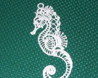 Lace Applique for Crafts or Crazy Quilt -  Seahorse